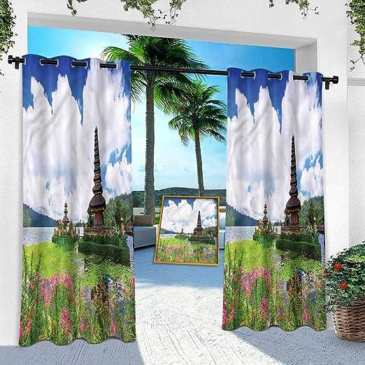 Aishare Store - Cortina de patio para exteriores, impermeable ...