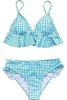 f0b2a47c399 Amazon.com: CUPSHE Women's Falbala Design Bikini Set: Clothing