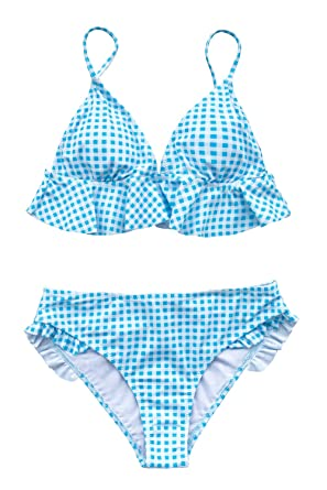 9d04224b4ad8 Amazon.com: CUPSHE Women's Rambling Rose High-Waisted Push Up Bikini ...