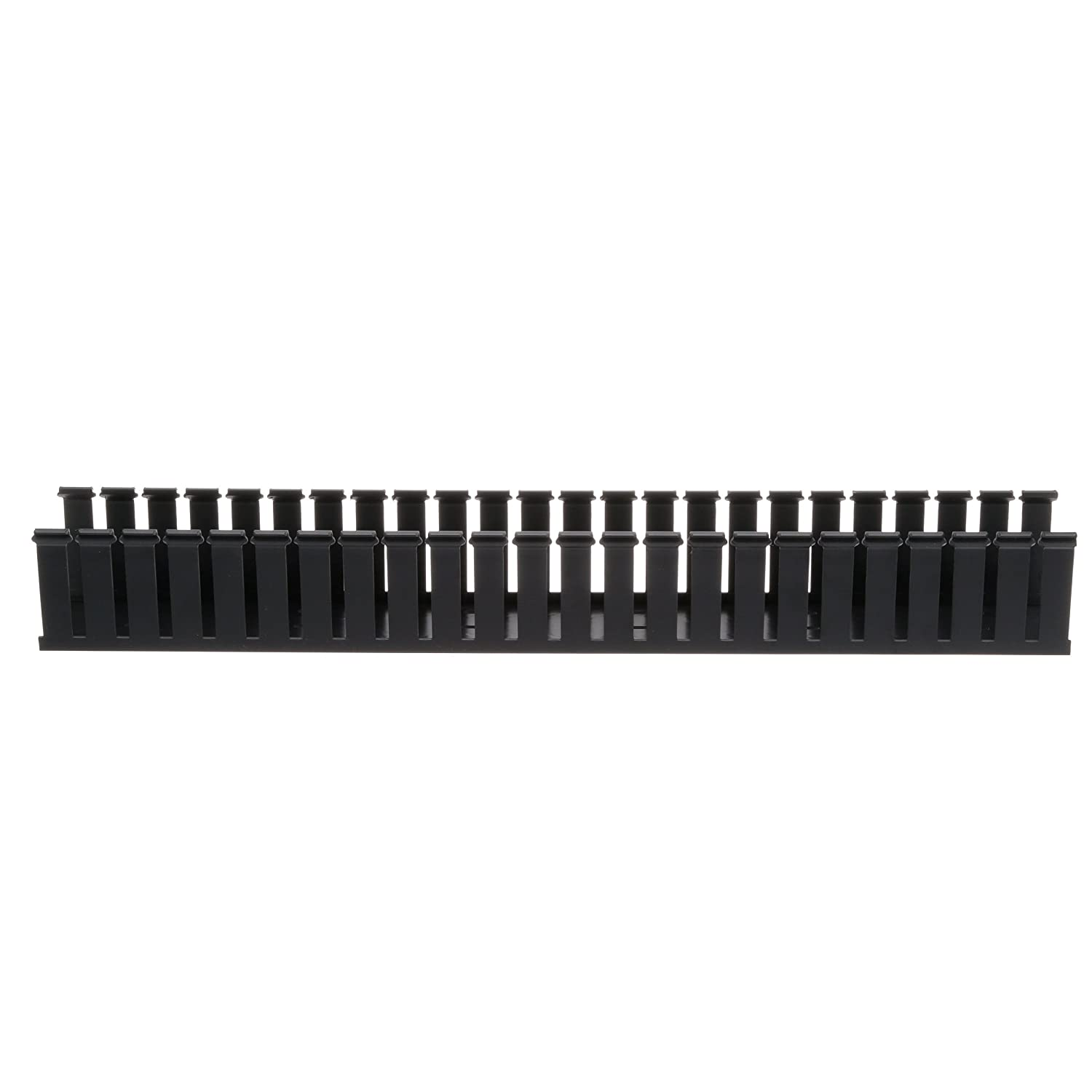 Panduit G1.5X2BL6 Type G Wide Slot Wiring Duct, PVC, Black: Amazon ...