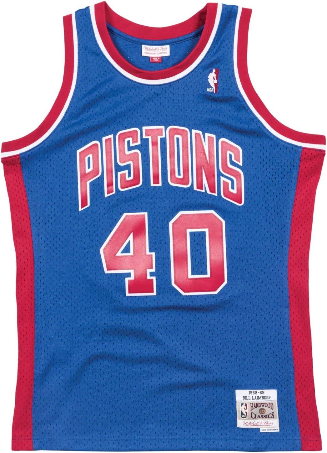 Mitchell & -Ness Detroit Pistons Bill Laimbeer Swingman - Camiseta ...