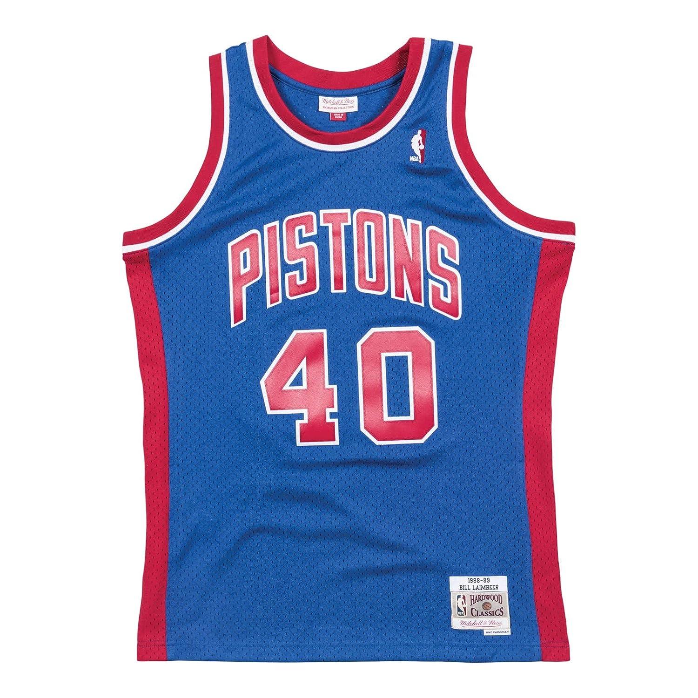283f5455bce7 Amazon.com   Mitchell   Ness Detroit Pistons Bill Laimbeer Swingman Jersey  NBA Throwback Blue (XX-Large)   Sports   Outdoors