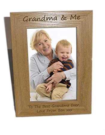 Grandma & Me Wooden Photo Frame 4x6 - Personalise This Frame - Free ...