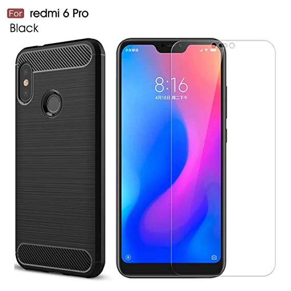 new concept 4c43c 56fc8 Xiaomi Redmi 6 Pro Case/Xiaomi Mi A2 Lite case,with Xiaomi Redmi 6  Pro/Xiaomi Mi A2 Lite screen protector. MYLB (2 in 1)[Scratch Resistant  Anti-fall] ...