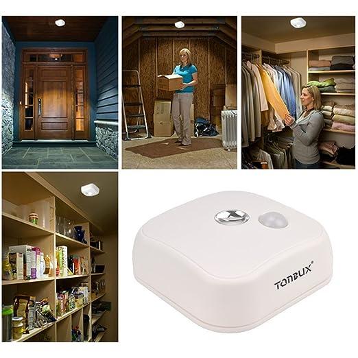Tonbux ® Lámpara de Techo LED Sensor Detector de Movimiento Luz Nocturna Lámpara de Pared: Amazon.es: Electrónica