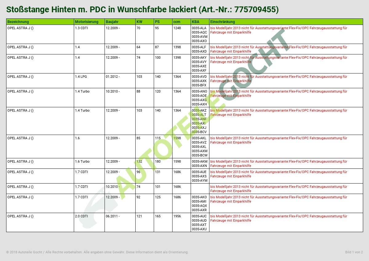 NUEVO lacado en deseos Color Parachoques Trasera M. PDC Bar de rodillo: Amazon.es: Coche y moto