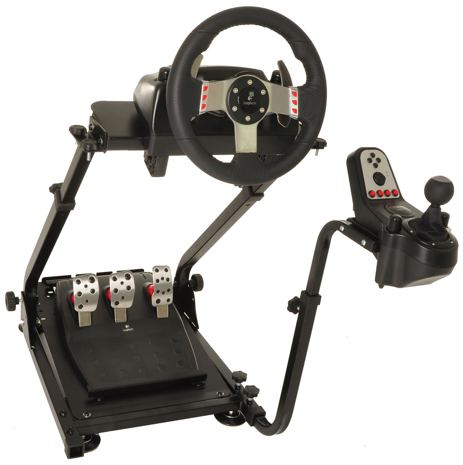 e15b585819e Amazon.com: Conquer Racing Simulator Cockpit Driving Gaming Wheel Stand and  Gear Shifter Mount: Kitchen & Dining