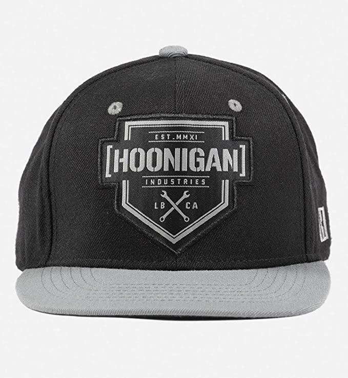 0c424153c Hoonigan Bracket X Snapback Hat | 80% Acrylic - 20% Wool Adjustable  Baseball Cap | Hide Your Bed Head in Style and Show Everyone That Your  Forehead ...