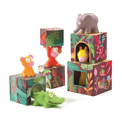 DJECO Maxi Topanijungle Nest and Stack Blocks Set, Model:DJ09101: Toys & Games