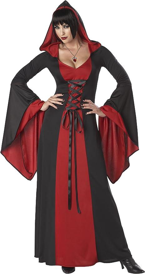 Disfraz vestido maléfica con capucha mujer S: Amazon.es: Juguetes ...