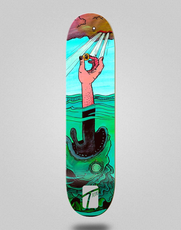 TXIN Monopat/ín Skate Skateboard Deck Tabla Treasure