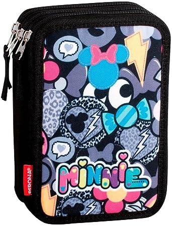 Minnie Mouse Patch - Plumier de Triple Compartimento 45 Piezas, Estuche (Perona 55450): Amazon.es: Ropa y accesorios