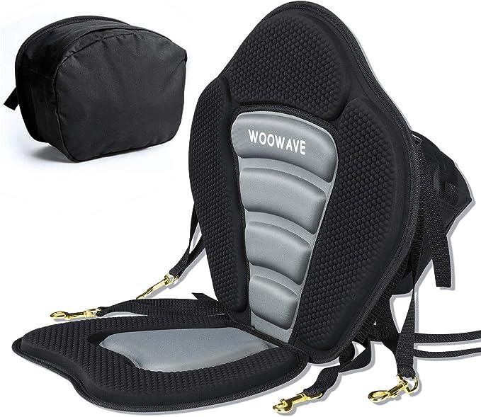 Adjustable Deluxe Kayak Seat Sit On Top Canoe Back Rest Support Cushion Canoe UK