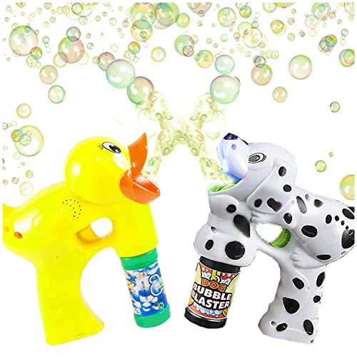 Bubble Blaster Duck And Dalmatian Set With Lights And Sound By Artcreativity Includes A Duck Bubble Gun Dalmatian Bubble Gun And 4 Bottles Of Solution Great Gift For Kids Batteries Included