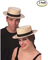 Rubies Costume Co Economy Straw Sailor Hat Costume, Large