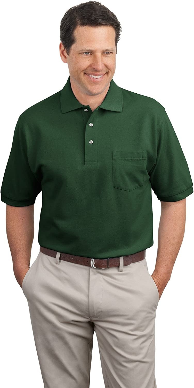 Port Authority Men's Pique Knit Polo with Pocket