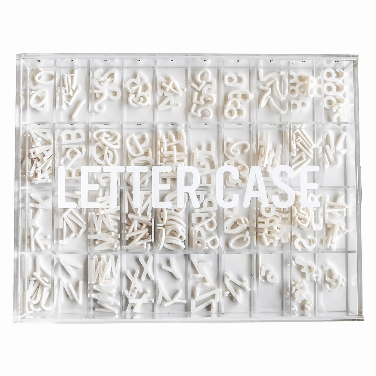 Letter Board Case to Organize & Store Your Letters by Letter Case with 40 Individual Grids for Every Number, Letter and Special Character