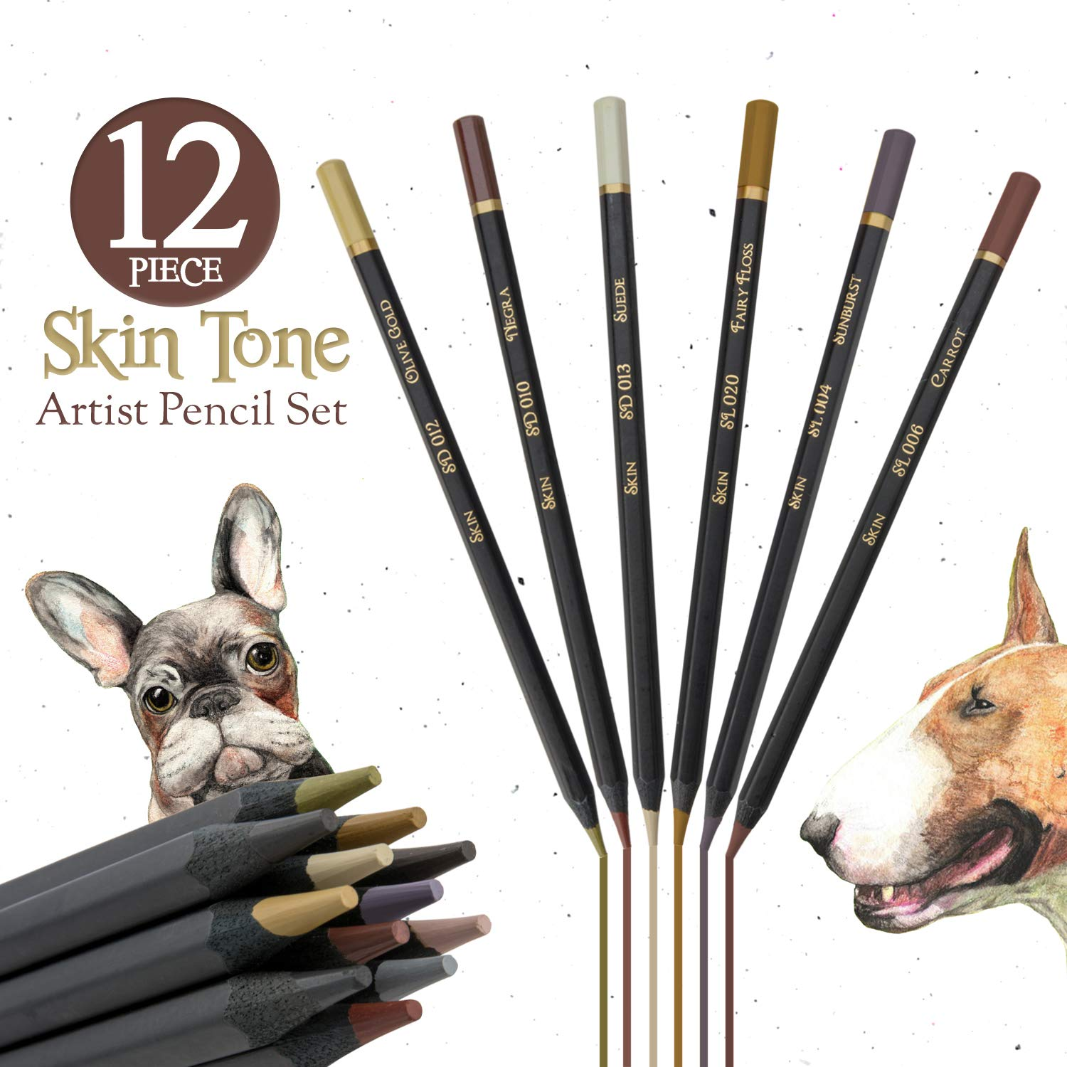Dark Skin Tone Color Pencils for Portrait Set - Colored Pencils for Adults and Skintone Artist Pencils by Medihealth 1 (Image #8)