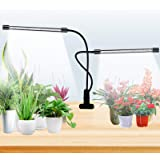 Grow Light for Indoor Plants, 40 LED Plant Growing Lamp with Full Spectrum, Dual Head Clip-on Plant Lights with 5 Levels Dimm