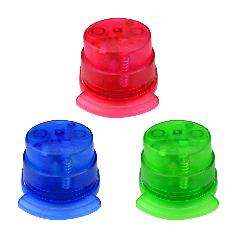 Staple Free Stapler,izBuy 2pcs Mini Stapler Plastic Paper Grip with 5 Sheet Capacity, Never Out of Staples Ideal for Paper Shredders,2.3''x2.3''x1.9'',Kid Safe,Pack of 2,Color Random