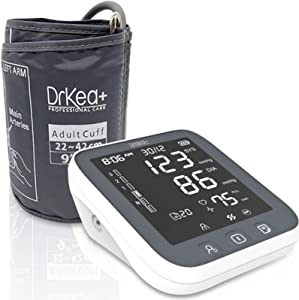 Blood Pressure Monitor Upper Arm Cuff - Automatic Blood Pressure Machine with Led Backlight - Accurate Bp Monitors Kit - 2 Users - 99 Memories with Batteries Included