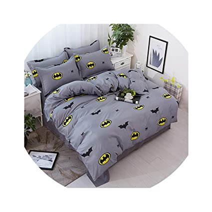 Black White Batman Bed  Duvet Cover Quilt Cover Set Twin Queen King Size