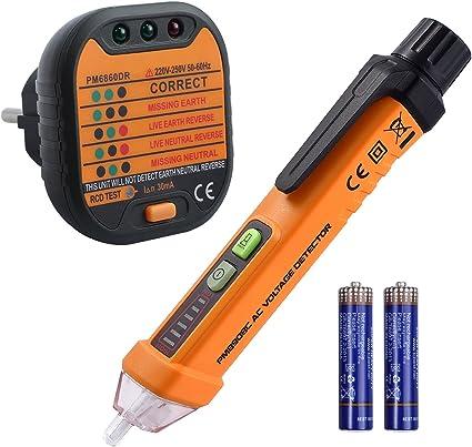 Neoteck Détecteur de Tension sans Contact 12-1000V//AC 50-500Hz NCV Détecter Fi