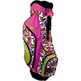 Birdie Babe Women Golf Bag Bahama Mama Pink Flowered Ladies Hybrid Golf Bag