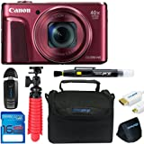 "Canon Powershot SX720 (Red) + 12"" Tripod + 16GB Memory Card + Pixi-Basic Accessory Bundle"