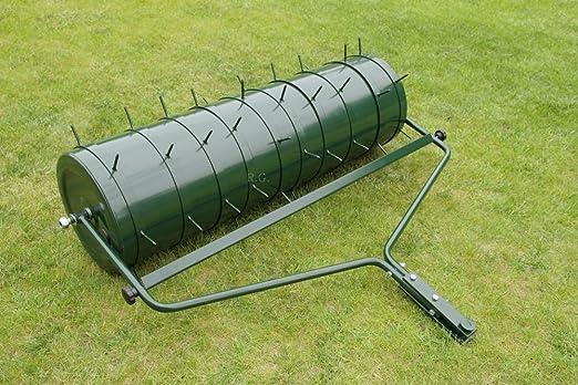 Rodillo para jardín 102 cm con 2 areator Juego adjuntos rodillo Césped rodillo aireador de césped: Amazon.es: Jardín