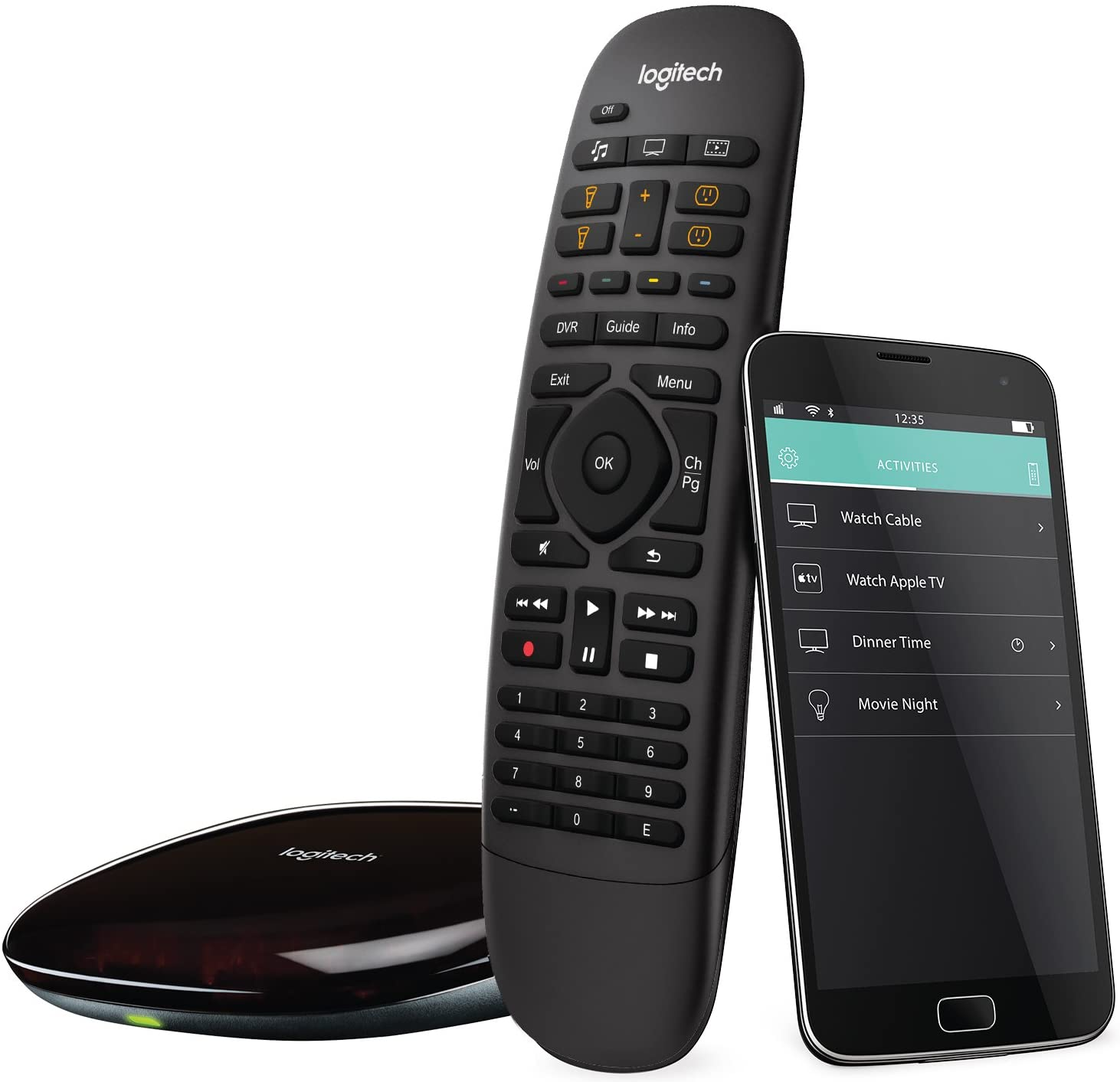 Logitech Harmony Companion All in One Remote Control for Smart Home and Entertainment Devices, Hub & App, Works With Alexa – Black: Home Audio & Theater