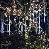 BlueFire Mejorada 50cm 10 Tubos 540 LED de Meteoros Lluvia Luces Guirnalda Luces Led Exterior para Fiesta de Boda…