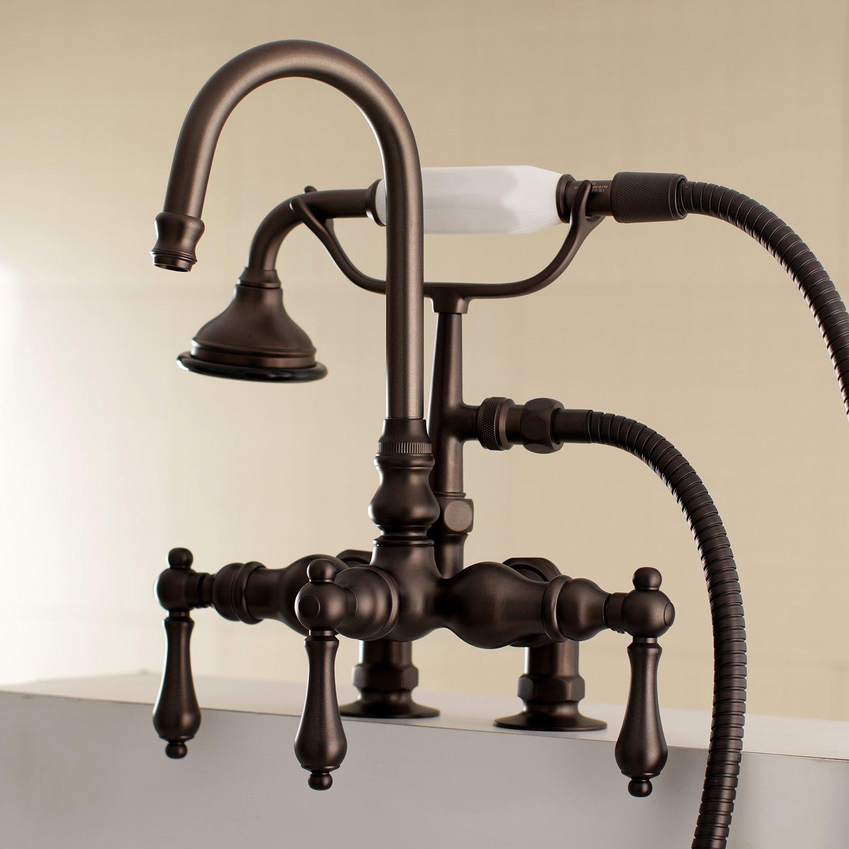 Polished Chrome Kingston Brass AE14T1 Vintage Tub Faucet