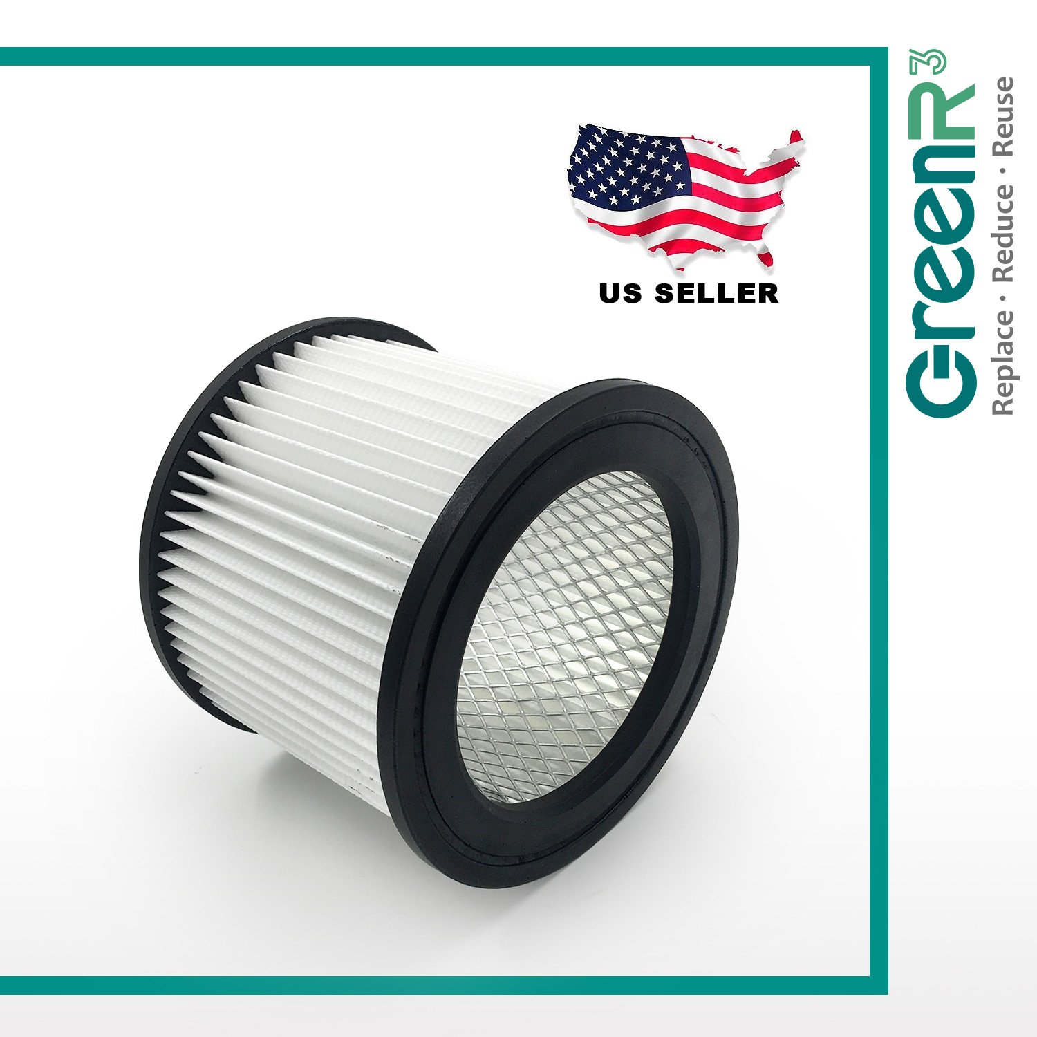 GreenR3 1-Pack Air Filters Vacuum Cleaners For Shop Vac 90398-33 Fits Shop Vac 5 Gallon Contractor Portable Floormaster Plus 9520262 5872462 925022