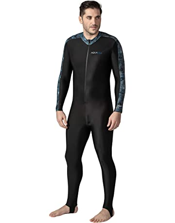 56314ab1ce Aqua Blue Sport Skin Spandex Super-Stretch Body Suit, Perfect for Surfing,  Diving