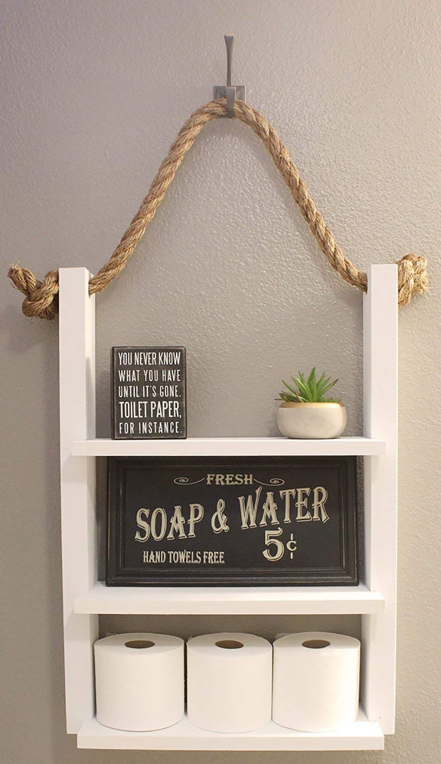 Amazon Com Modern Farmhouse Bathroom Shelf 100 Handmade In Usa Handmade