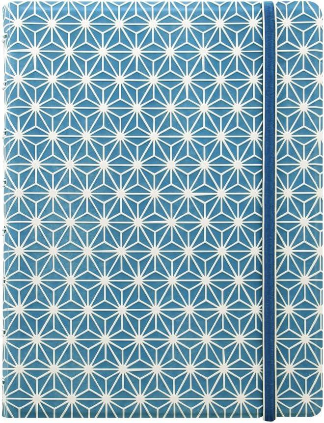 Filofax Impressions Notizbuch nachf/üllbar A5 Size blau//wei/ß