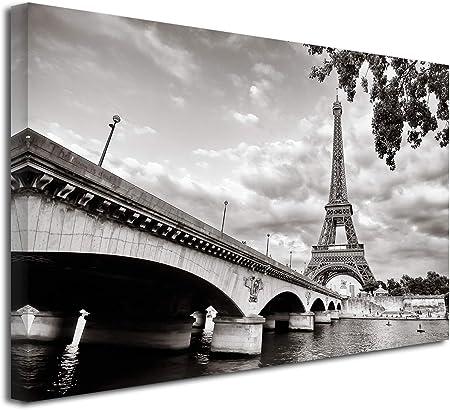 DECLINA Tableau Noir et Blanc la Tour Eiffel - Impression ...