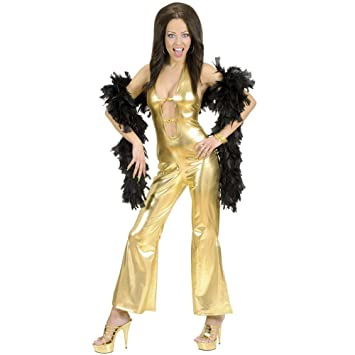 gold jumpsuits costume large for 70s abba theme fancy dress