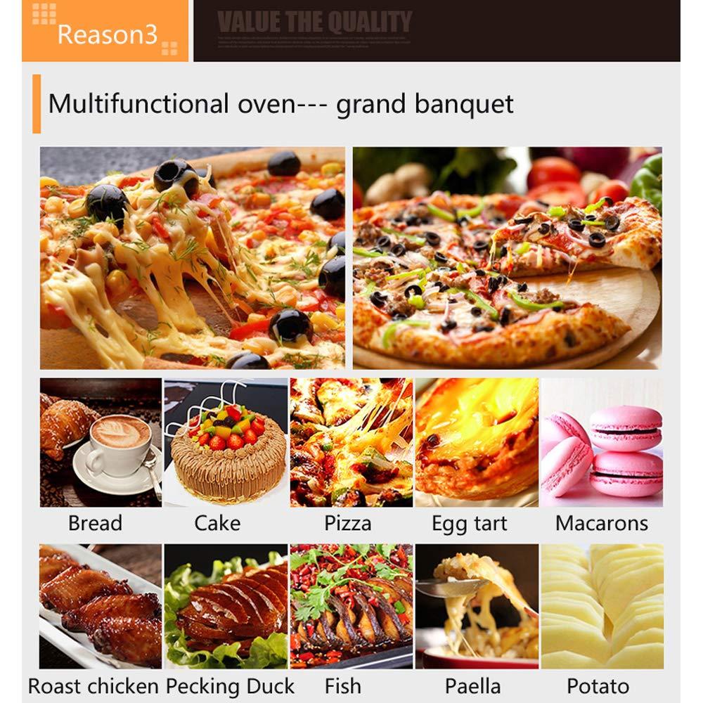 QWRW Horno Eléctrico Pizza Horno 2Kw Horno De Pizza Eléctrica Comercial Sola Capa Horno Profesional Para Hornear Pastel/Pan / Pizza Con Temporizador: ...