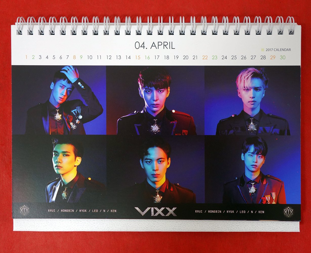 VIXX - 2017-2018 PHOTO DESK CALENDAR: VIXX: Amazon com: Books