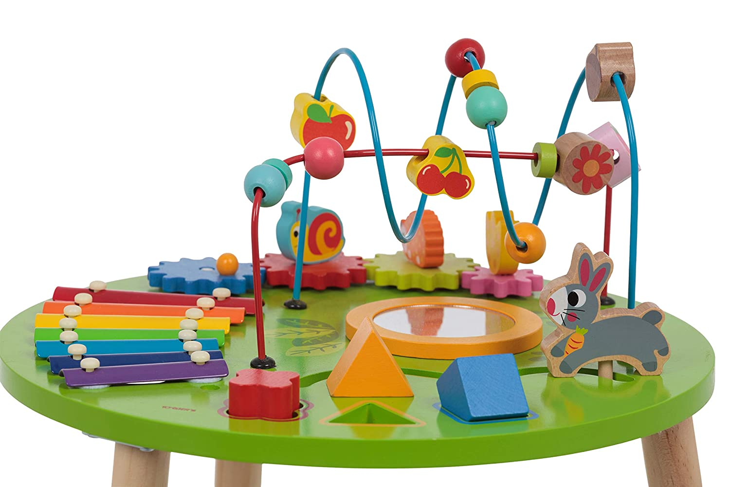 Shape Block Puzzle for 1 Year Old Boy and Girls Wooden Activity Table for Toddlers Multi-Purpose Children/'s Educational Learning Play Toy Set ED435 TOYSTERS Playset Easel with Bead Maze