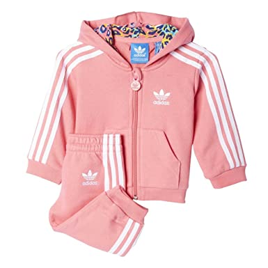 b4434a61f202 Adidas Originals Infant Baby Girls Tracksuit (3-4)  Amazon.co.uk  Clothing