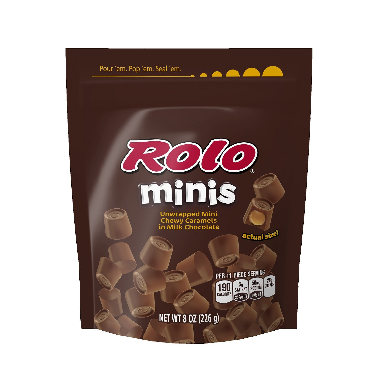 Rolo Minis Caramel in Milk Chocolate, 8-Ounce Pouch by Rolo