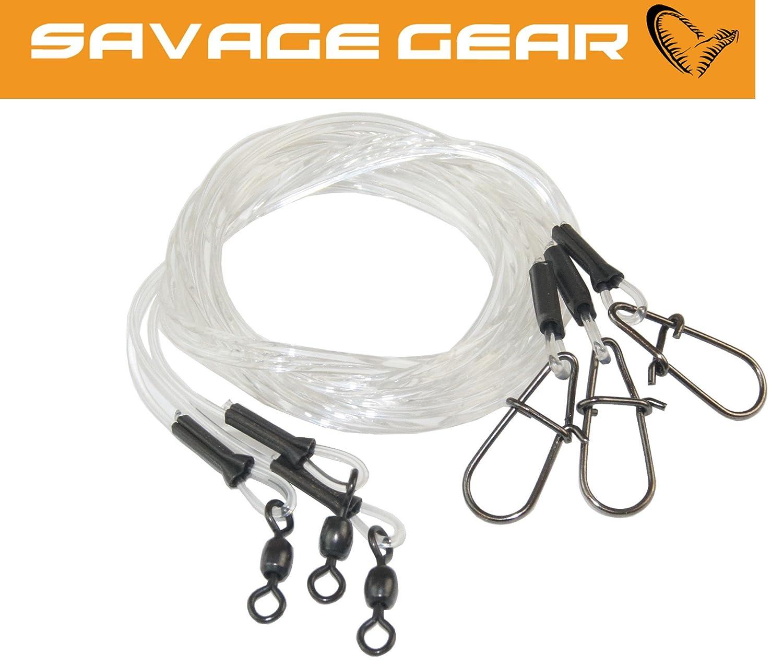 2 Titanvorfächer zum Hechtangeln Savage Gear Titanium Traces Spinnvorfächer