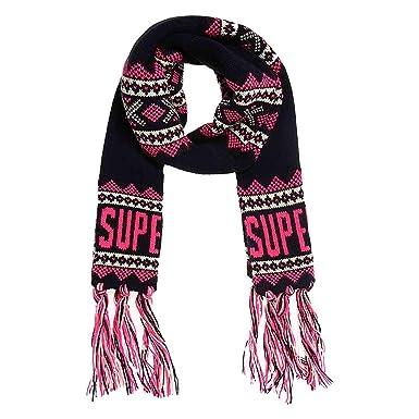 beste website super günstig im vergleich zu 100% Spitzenqualität Superdry Damen Schal, Blau One size: Amazon.de: Bekleidung