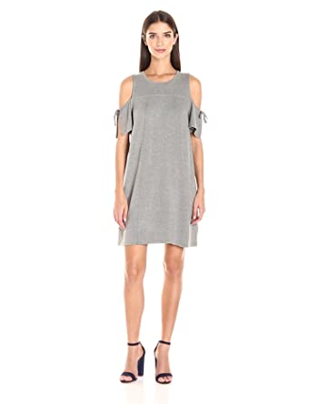 292b018036 kensie Women s Drapey French Terry Dress with Cold Shoulder at ...