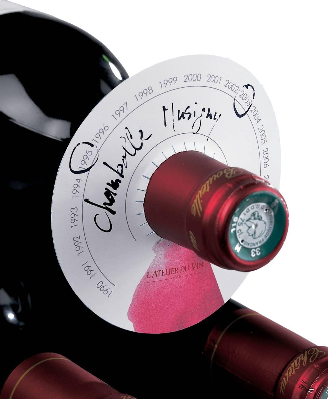 Paderno World Cuisine 95043-4 L'Atelier Du Vin Wine Cellar Discs, White, Set of 80