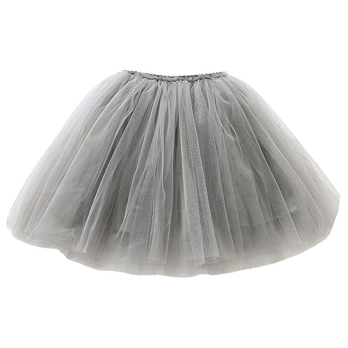 e0806c1487b Happy cherry Faldas Infantiles de Princesa 3 Capas de Tul Falda Tutú de  Ballet para Niñas Chiquitas Fiestas