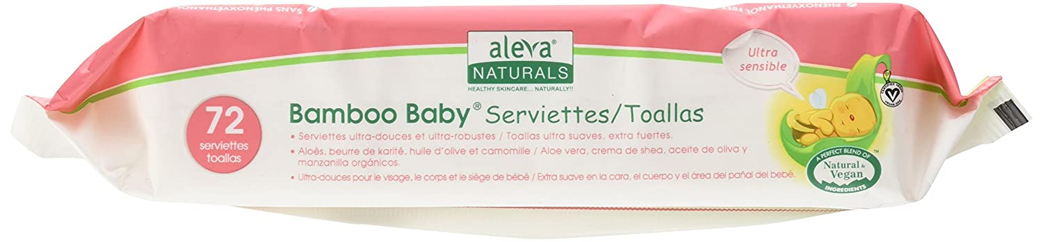 Amazon.com: Aleva Naturals Bamboo Baby Wipes, Sensitive, 6 Count, 14.1 Ounce: Health & Personal Care